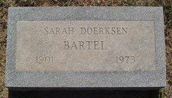 Sarah H <i>Doerksen</i> Bartel