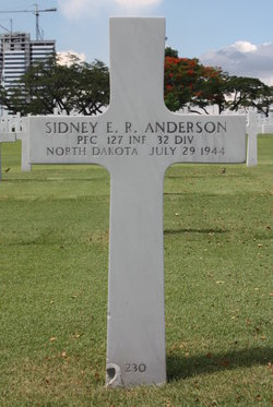 PFC Sidney E R Anderson