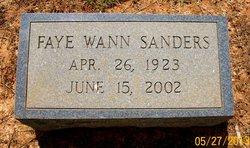 Faye <i>WANN</i> SANDERS