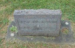 Hepzibah Ann Hepsie <i>Lane</i> Allison