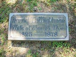 Harriet Lucretia <i>Wightman</i> Nye
