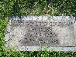 Mary Coleman Hodges