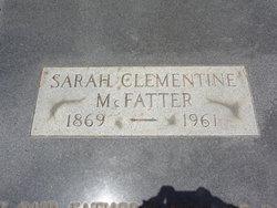 Sarah Clementine <i>Brock</i> McFatter