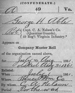 Pvt George H. Abel