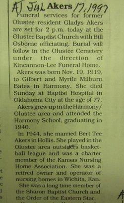 Gladys <i>Bates</i> Akers