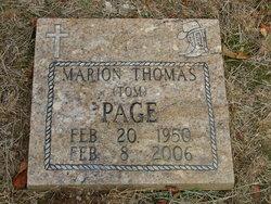 Marion Thomas Tom Page, Sr