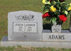 Judith <i>Landrum</i> Adams