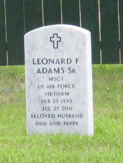 Leonard F. Len Adams, Sr
