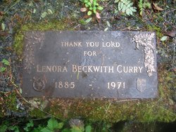 Lenora <i>Beckwith</i> Curry