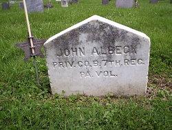 Pvt John M Albeck
