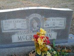 Jean <i>Wickliffe</i> McCrocklin