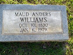 Maud <i>Anders</i> Williams