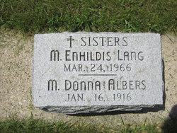 Sr M. Donna Albers