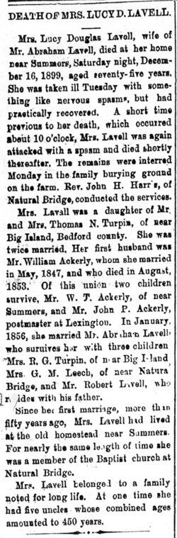 Lucy Douglas Ackerly <i>Turpin</i> Lavell