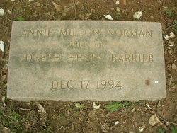 Annie Milton <i>Norman</i> Barrier