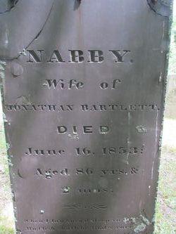 Abigail Nabby <i>Bartlett</i> Bartlett