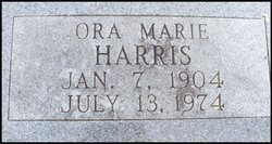 Ora Marie <i>Pearce</i> Harris