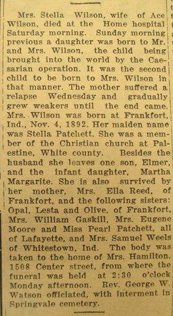 Stella F. <i>Patchett</i> Wilson