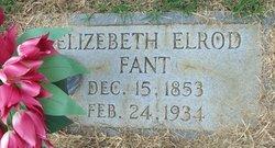 Elizebeth <i>Elrod</i> Fant