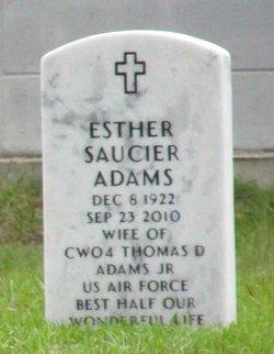 Esther V. <i>Saucier</i> Adams