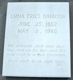 Emma Christina <i>Fries</i> Bahnson