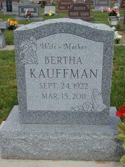 Bertha <i>Herschberger</i> Kauffman
