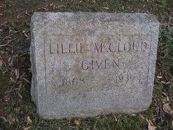 Lillie <i>McCloud</i> Given