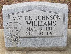 Mattie <i>Johnson</i> Williams