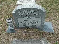 Joyce Lee <i>Myers</i> Barber