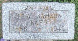 Etta <i>Samson</i> Bahr