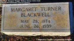 Margaret Melissa Maggie <i>Turner</i> Blackwell