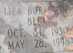Lila <i>Burleson</i> Beck