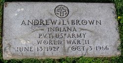 Pvt Andrew L. Brown