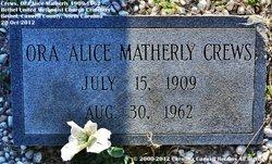 Ora Alice <i>Matherly</i> Crews