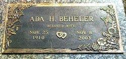 Ada <i>Hopkins</i> Beheler