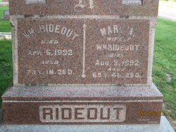 Mary A. <i>HUGGINS</i> Rideout