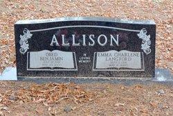Emma Charlene <i>Langford</i> Allison