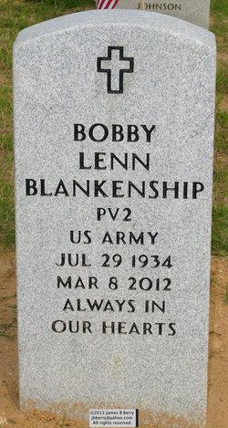 Pvt Bobby Lenn Blankenship