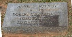 Annie E <i>Ballard</i> Adams