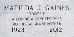 Matilda J. Tootsie Gaines