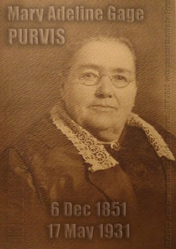 Mary Adeline Anne <i>Gage</i> Purvis