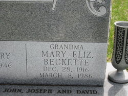 Mary Elizabeth <i>Baugh</i> Beckette