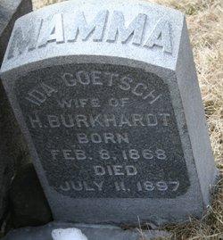 Ida <i>Goetsch</i> Burkhardt