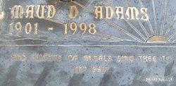 Maud Lillian <i>Davis</i> Adams