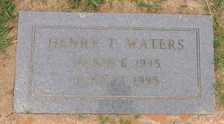 Henry T Waters