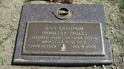 A Anne <i>Lathrom Woolery</i> Moles