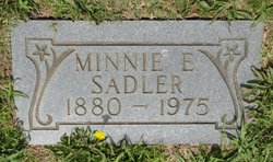 Minnie Etta <i>Cox</i> Sadler
