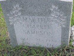 Martha Estelle <i>Chapple</i> Sampson