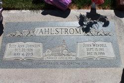 Beth Ann <i>Johnson</i> Ahlstrom