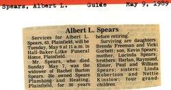 Albert L Spears